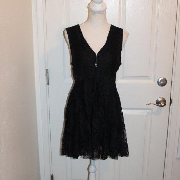 Final $ Sexy Free People Black Lace Dress Women 8